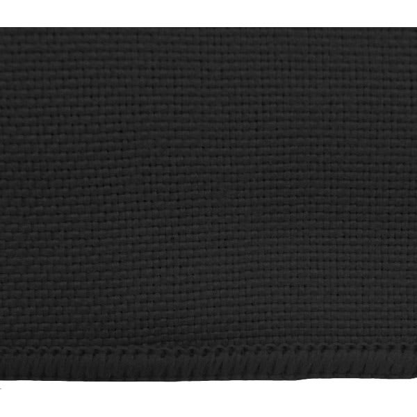 "Snap Drape TMKT5252ODK 52"" Square Tablecloth - Overlocked, Black"