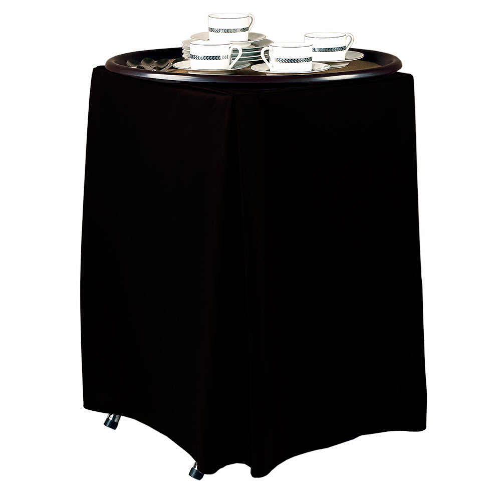 "Snap Drape TRYWYN31 BLK Wyndham Tray Stand Cover for Stands 31"" To 36"" High, Black"