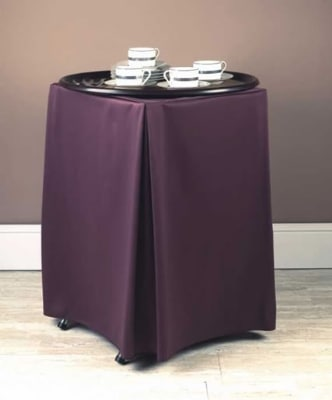 """Snap Drape TRYWYN31 WHT Wyndham Tray Stand Cover for Stands 31"""" To 36"""" High, White"""