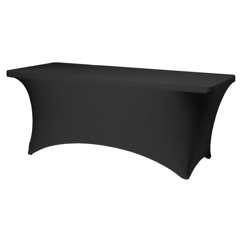 Snap Drape TS72BLK Table-In-A-Snap Set - (1) 6' Folding Table & (1) Black Stretch Cover