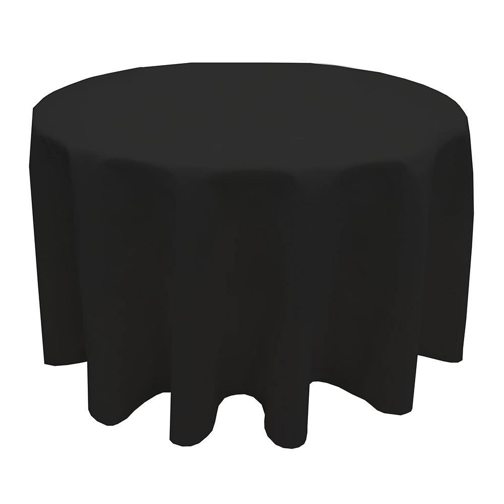 "Snap Drape TULT120RODK Nouveau Ultraspun 120"" Round Overlocked Tablecloth, Dark"