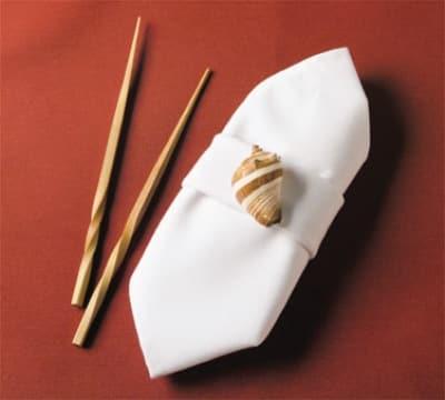 "Snap Drape TULT5252HWH Nouveau Ultraspun 52"" x 52"" Hemmed Tablecloth, White"