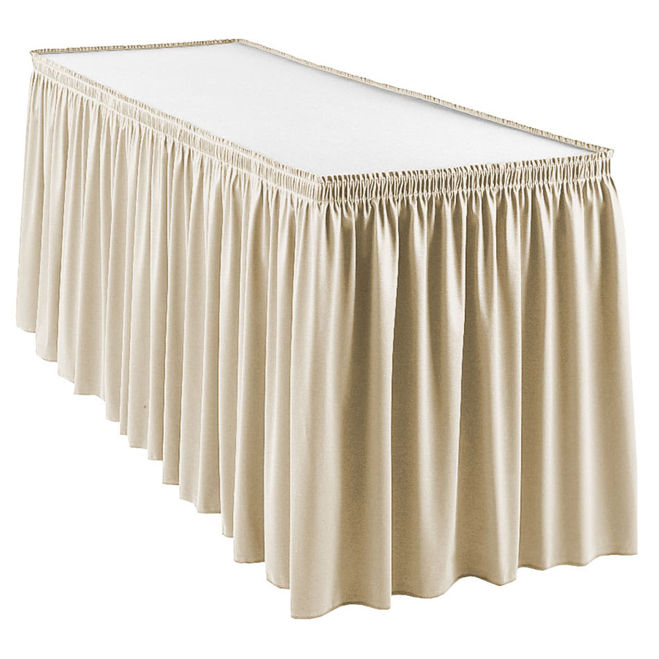 Snap Drape WYN1S1329 SILCLD Wyndham 13-ft Table Skirt, Shirred Pleat, Snap Attachment, Silver Cloud