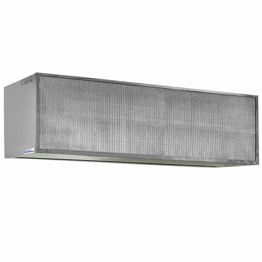 "Curtron S-IBD-72-2 72"" Insect Control Air Curtain for Commercial Back Door - (1) Speed, Aluminum"