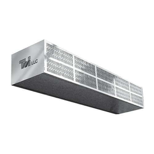 """Curtron S-LP-60-1 60"""" Heated Low-Profile Air Curtain - (1) Speed, Stainless Steel"""