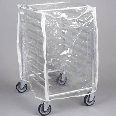 Curtron SUPRO-14-EC-1/2 Half-Size Rack Cover w/ Zipper Flaps, Clear PVC