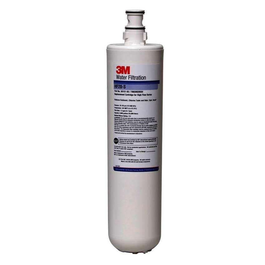 3M Cuno 5615101 HF20 Cartrdige, Reduces Cysts, Chlorine, Odor & Sediment, 0.5 Microns