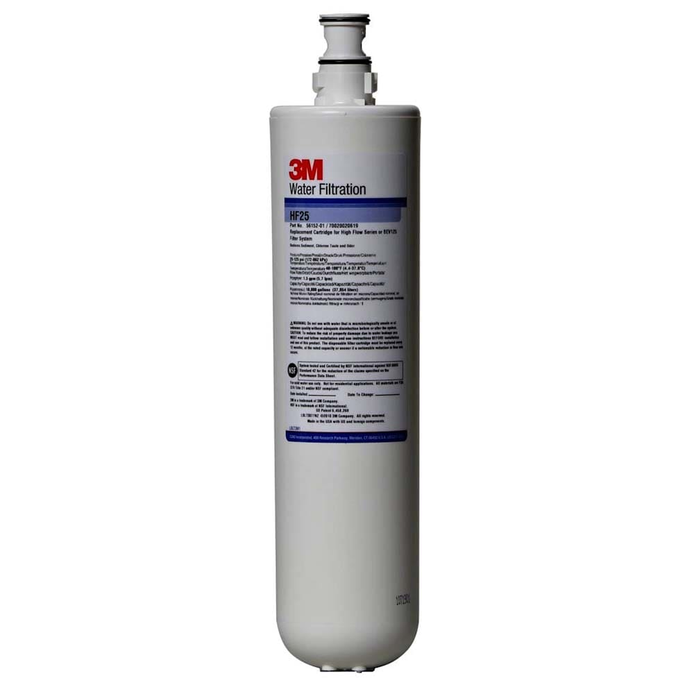 3M Cuno 5615201 HF25 Cartridge, Reduces Chlorine, Odor & Sediment, 5 Microns