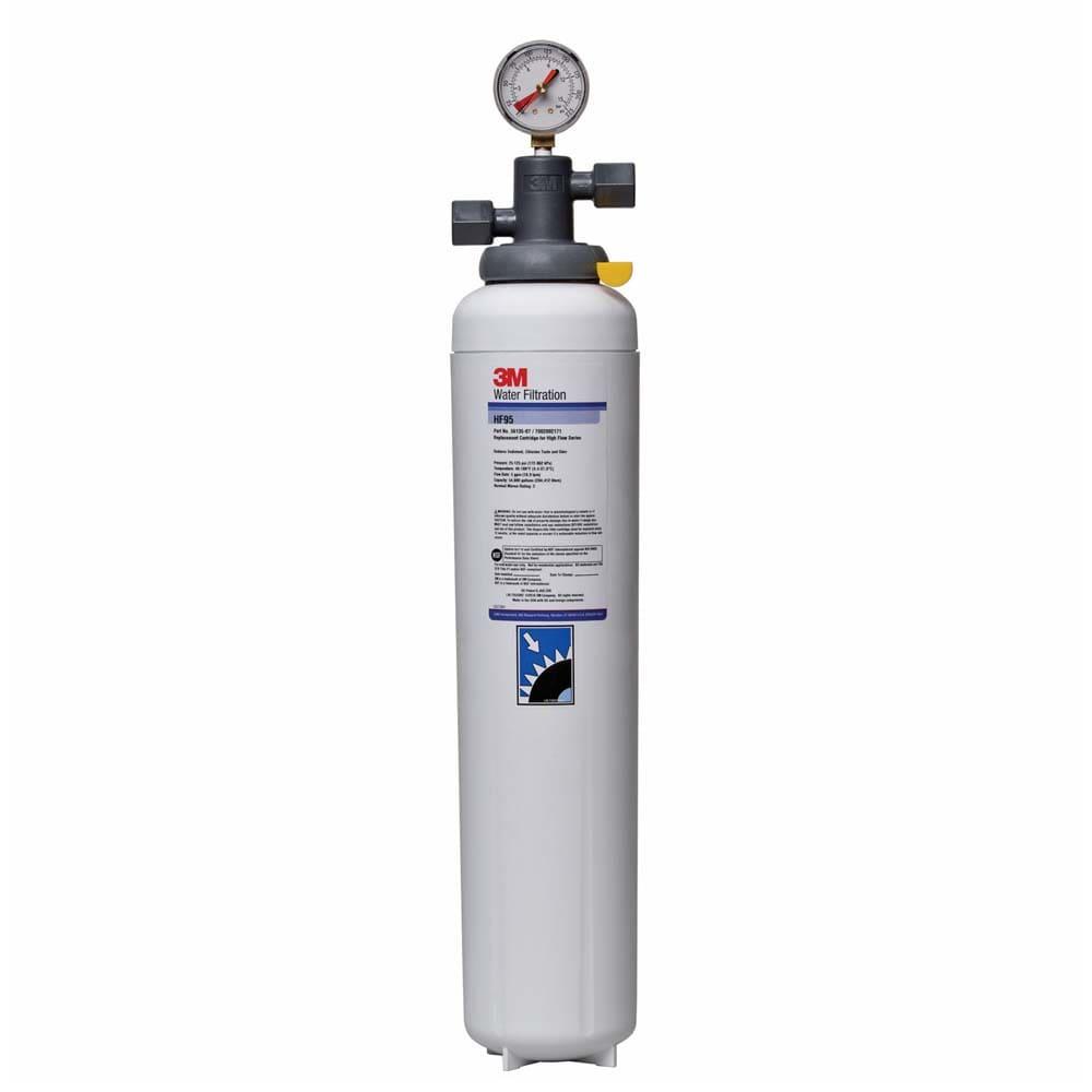 3M Cuno 5616402 BEV190 Filter System w/ Shut Off Valve, Removes Sediment, Chlorine Taste & Odor