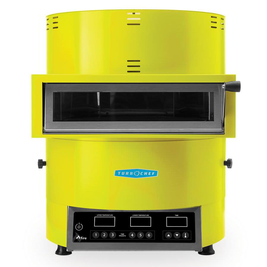 TurboChef FIRE Countertop Pizza Oven - Single Deck, 208 240v/1ph, Yellow