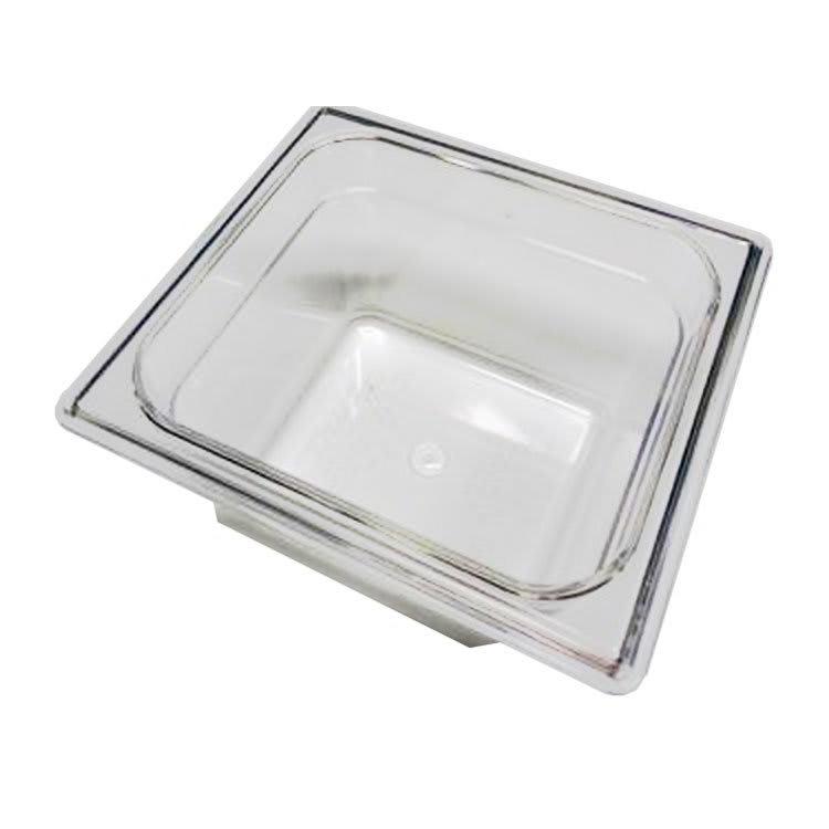 True 810292 Food Storage Pan, 1/6 Size, 6-7/8 x 6-5/16 x 3-4/5 Inch