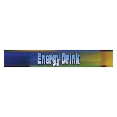 True 883855 Sign, Energy Drink, Blue & Green, for GDM5, GDM5PT, GDM5PTS & GDM5S