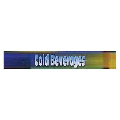 True 883887 Sign, Cold Beverages, Blue & Green, for GDM10, GDM12 & GDM15