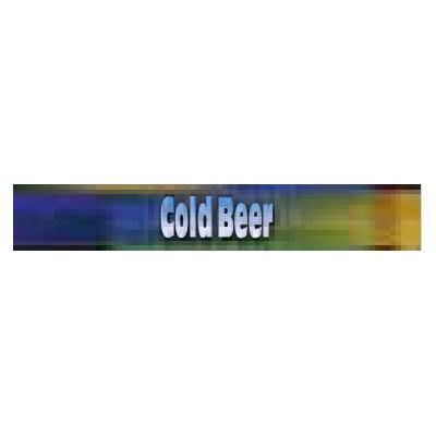True 883901 Sign, Cold Beer, Blue & Green, for GDM19 & GDM23