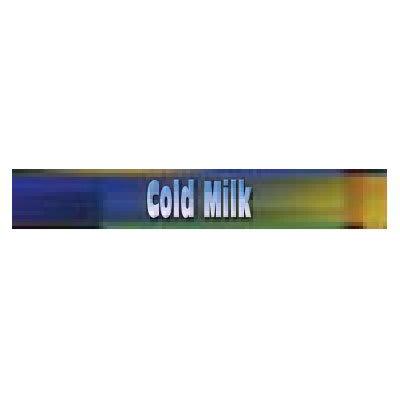 True 883907 Sign, Cold Milk, Blue & Green, for GDM19 & GDM23