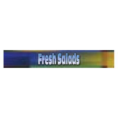 True 883917 Sign, Fresh Salads, Blue & Green, for GDM19 & GDM23