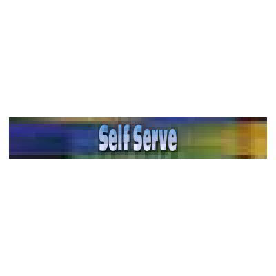 True 884019 Sign, Self Serve, Blue & Green, for GDM26RF