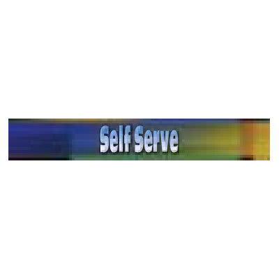 True 884235 Sign, Self-Serve, Blue & Green