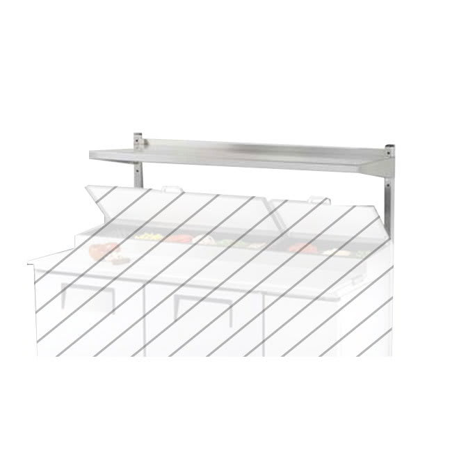 "True 914980 Single Utility Shelf, 72 3/8"" X 12"" X 33""H, Stainless, TUC/TSSU72/8/10/12"