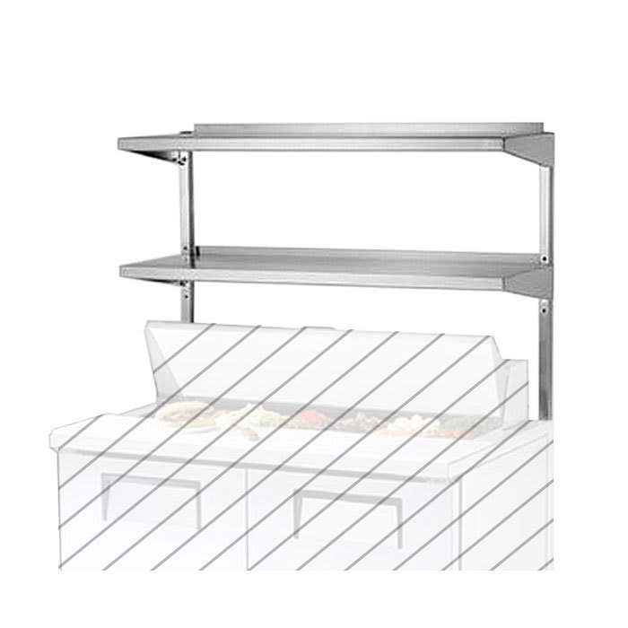 "True 914982 Double Utility Shelf, 36 3/8 x 16"" X 33""H,Stainless for TUC/TSSU36 & TUC/TSSU36M"