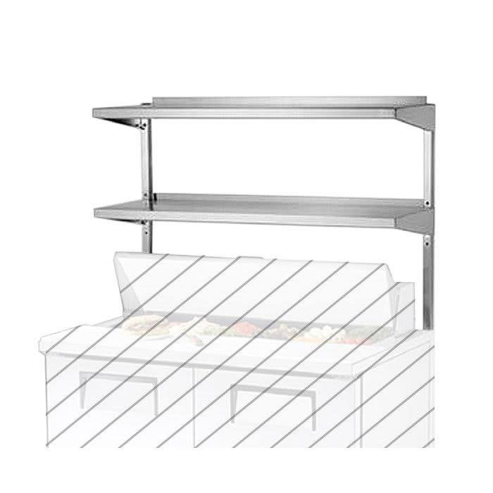 "True 915703 Double Utility Shelf, 60-1/4"" X 16"" X 33""H for TPP60 & TPP60D2"