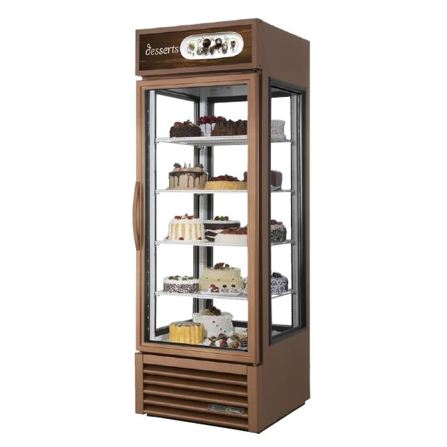 "True G4SM-23-HC~TSL01 28"" Self Service Bakery Case w/ Straight Glass - (5) Levels, Copper, 115v"