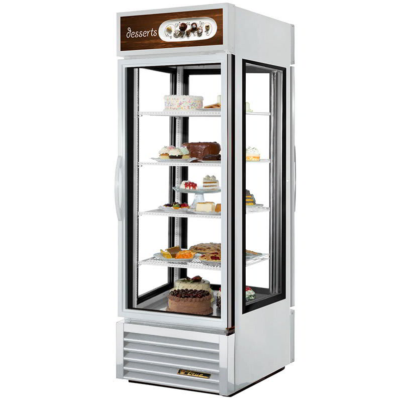 "True G4SM-23PT-HC~TSL01 28"" Self Service Bakery Case w/ Straight Glass - (5) Levels, White, 115v"