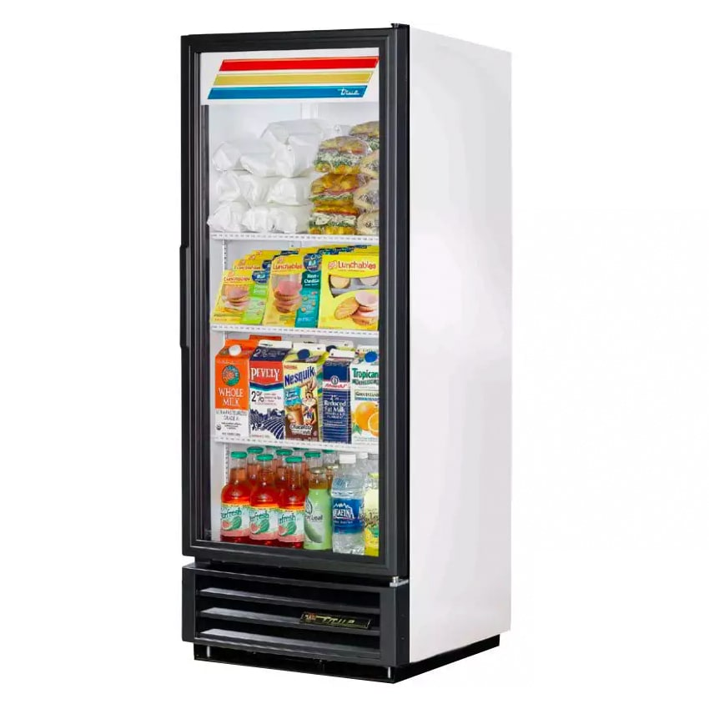 """True GDM-12-HC-LD 25"""" One-Section Glass Door Merchandiser w/ Swing Door, White, 115v"""