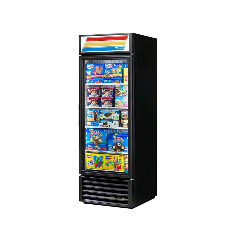 "True GDM-23F-HC~TSL01 27"" One-Section Display Freezer w/ Swinging Door, Black, 115v"