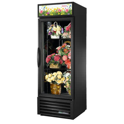 True GDM-23FC-HC~TSL01 1 Section Floral Cooler w/ Swinging Door - White, 115v