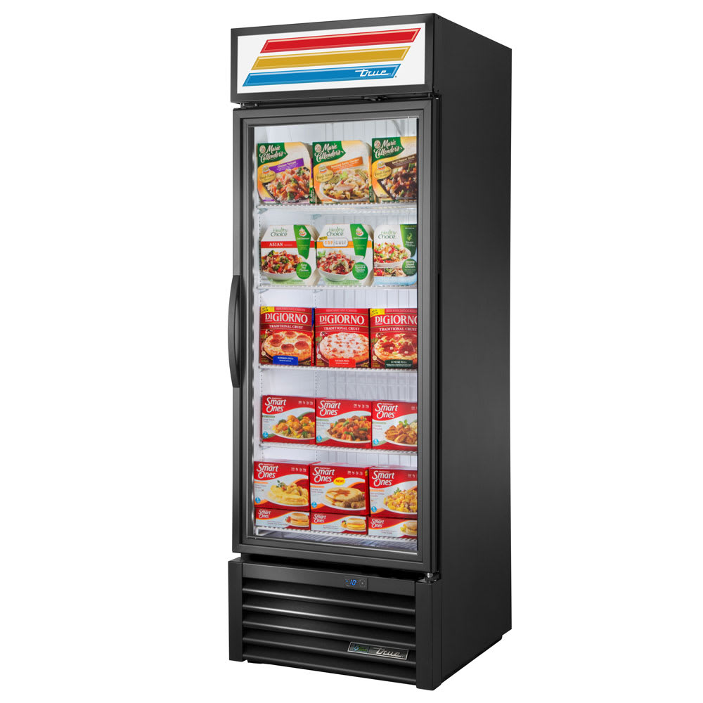 "True GDM-23F-HST-HC~TSL01 27"" One-Section Display Freezer w/ Swinging Door - Bottom Mount Compressor, 115v"