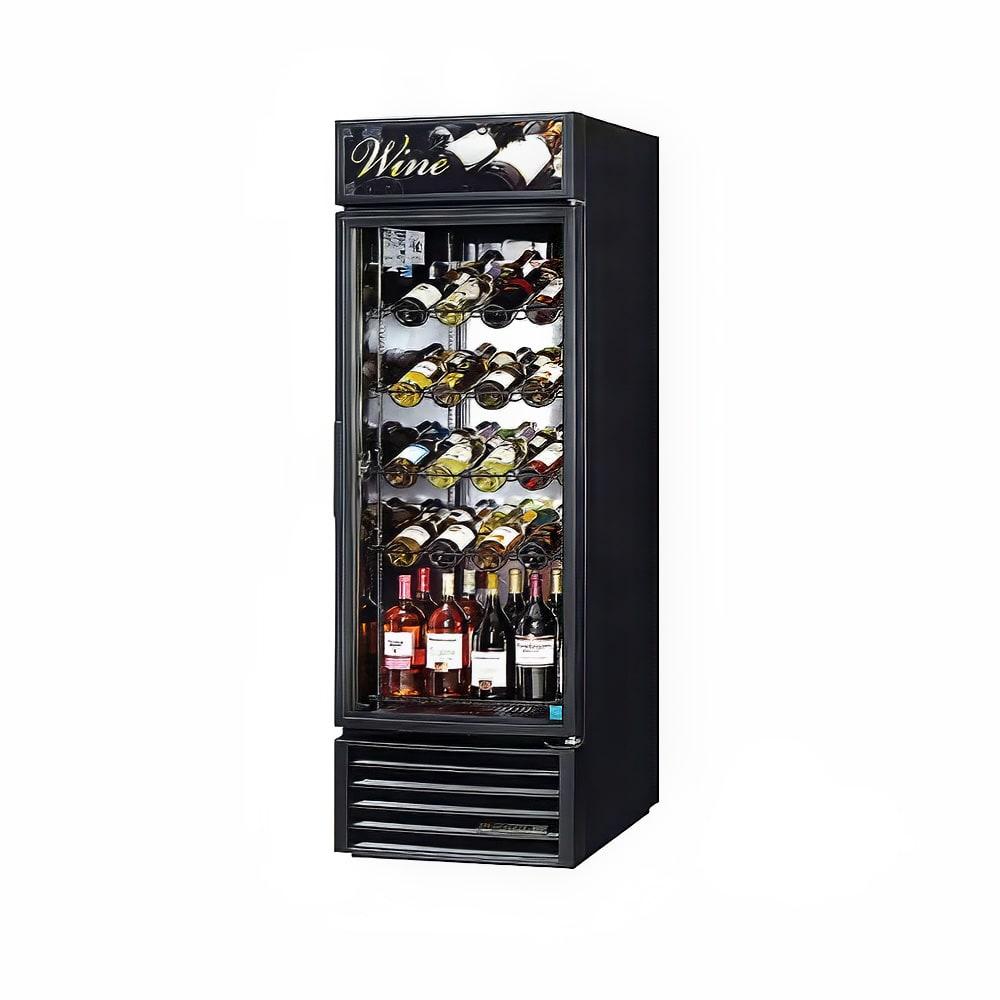 "True GDM-23W-HC~TSL01 27"" One Section Wine Cooler w/ (1) Zone - 106 Bottle Capacity, Black, 115v"