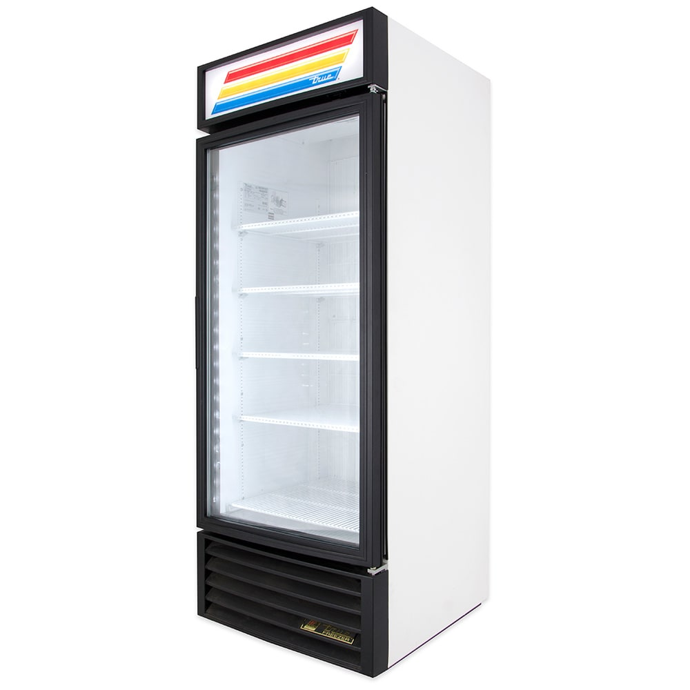 "True GDM-26F-HC~TSL01 30"" One-Section Display Freezer w/ Swinging Door - Bottom Mount Compressor, White, 115v"