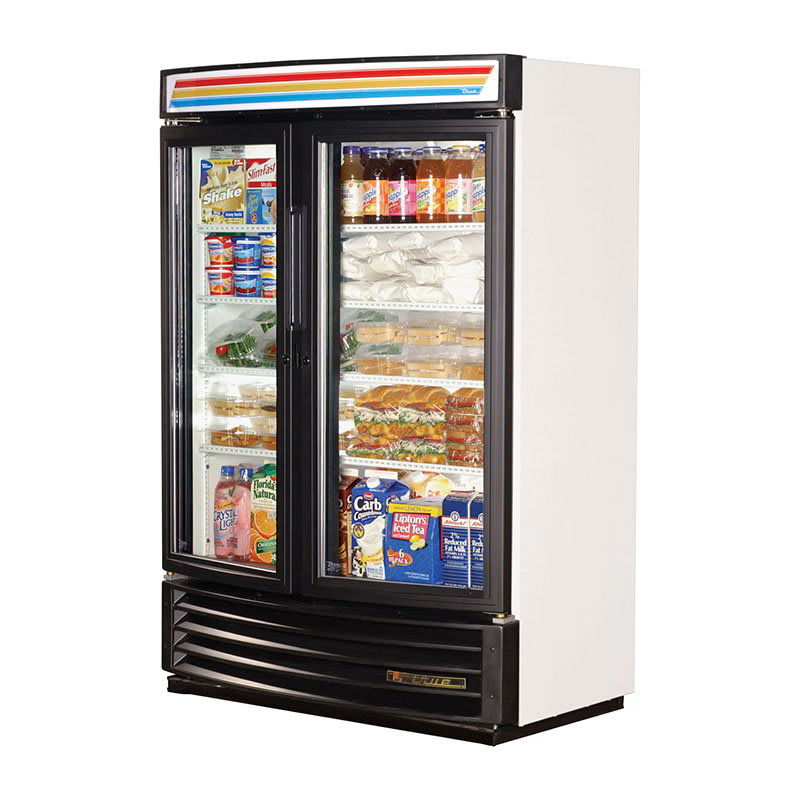 "True GDM-35SL-RF-HC-LD 40"" Two Section Refrigerated Display w/ Sliding Doors, Bottom Mount Compressor, 115v"