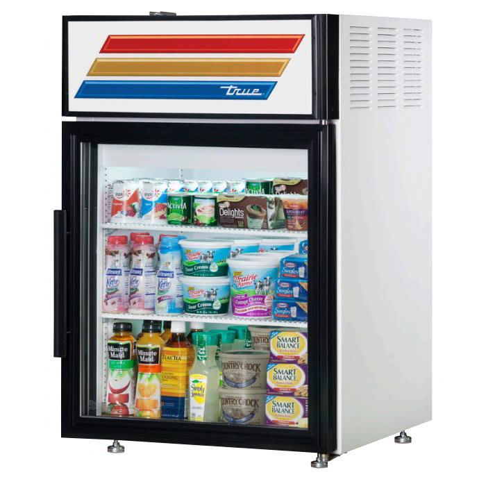 "True GDM-05-HC-LD 24"" Countertop Refrigerator w/ Front Access - Swing Door, White, 115v"