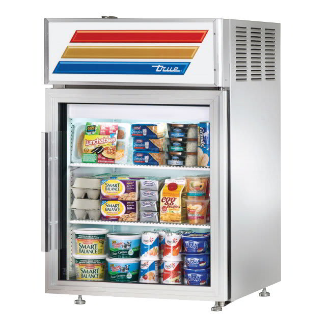 """True GDM-05-S-HC-LD 24"""" Countertop Refrigerator w/ Front Access - Swing Door, Stainless, 115v"""