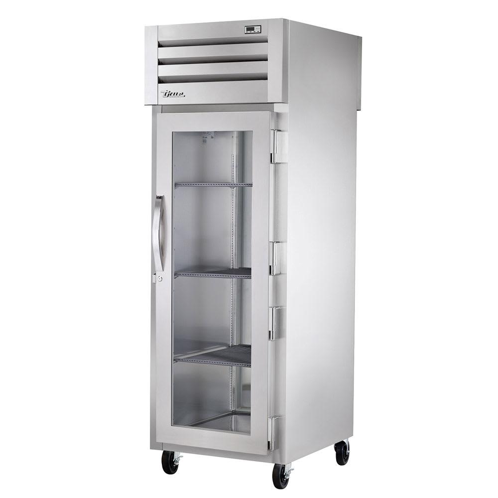 "True STA1R-1G-HC 27.5"" Single Section Reach-In Refrigerator, (1) Glass Door, 115v"