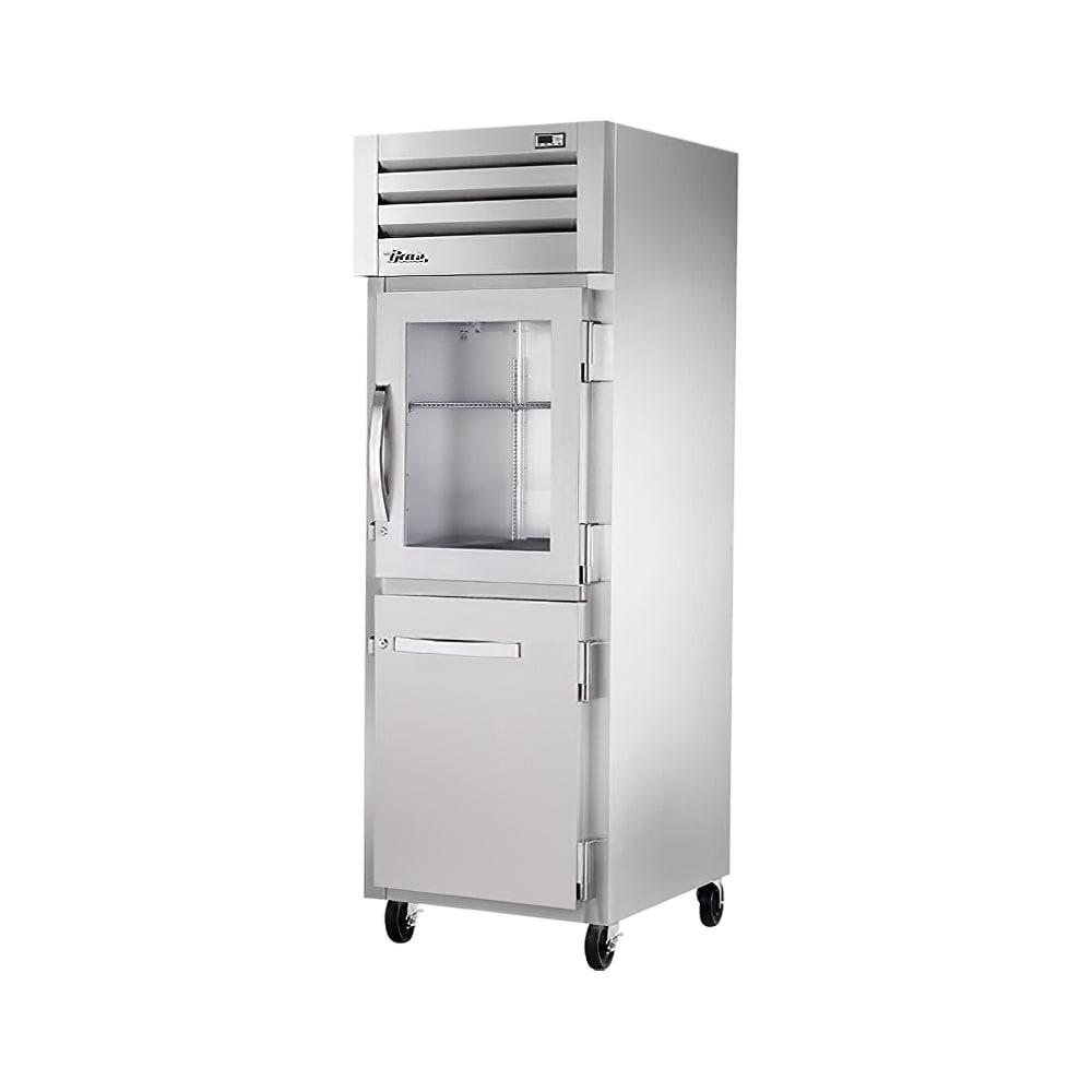"""True STA1R-1HG/1HS-HC 27.5"""" Single Section Reach-In Refrigerator, (1) Solid Door, (1) Glass Door, 115v"""