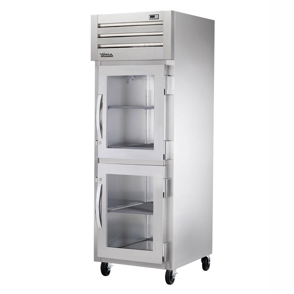 """True STA1R-2HG-HC 27.5"""" Single Section Reach-In Refrigerator, (2) Glass Door, 115v"""
