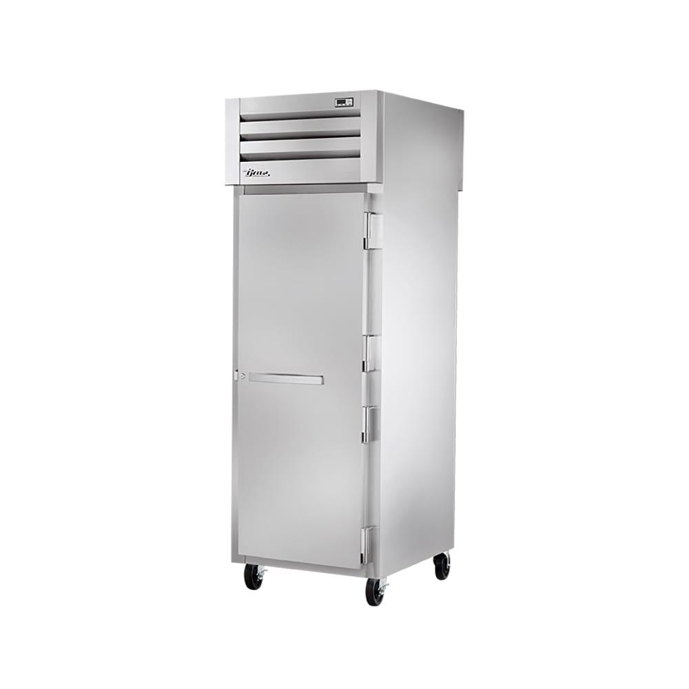 """True STA1RPT-1S-1G-HC 27.5"""" Single Section Pass-Thru Refrigerator, (1) Solid Door, 115v"""