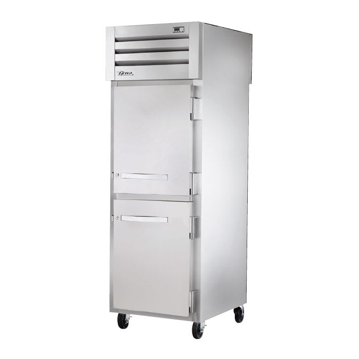 "True STA1RPT-2HS-1G-HC 27.5"" Single Section Pass-Thru Refrigerator, (2) Solid Door, 115v"