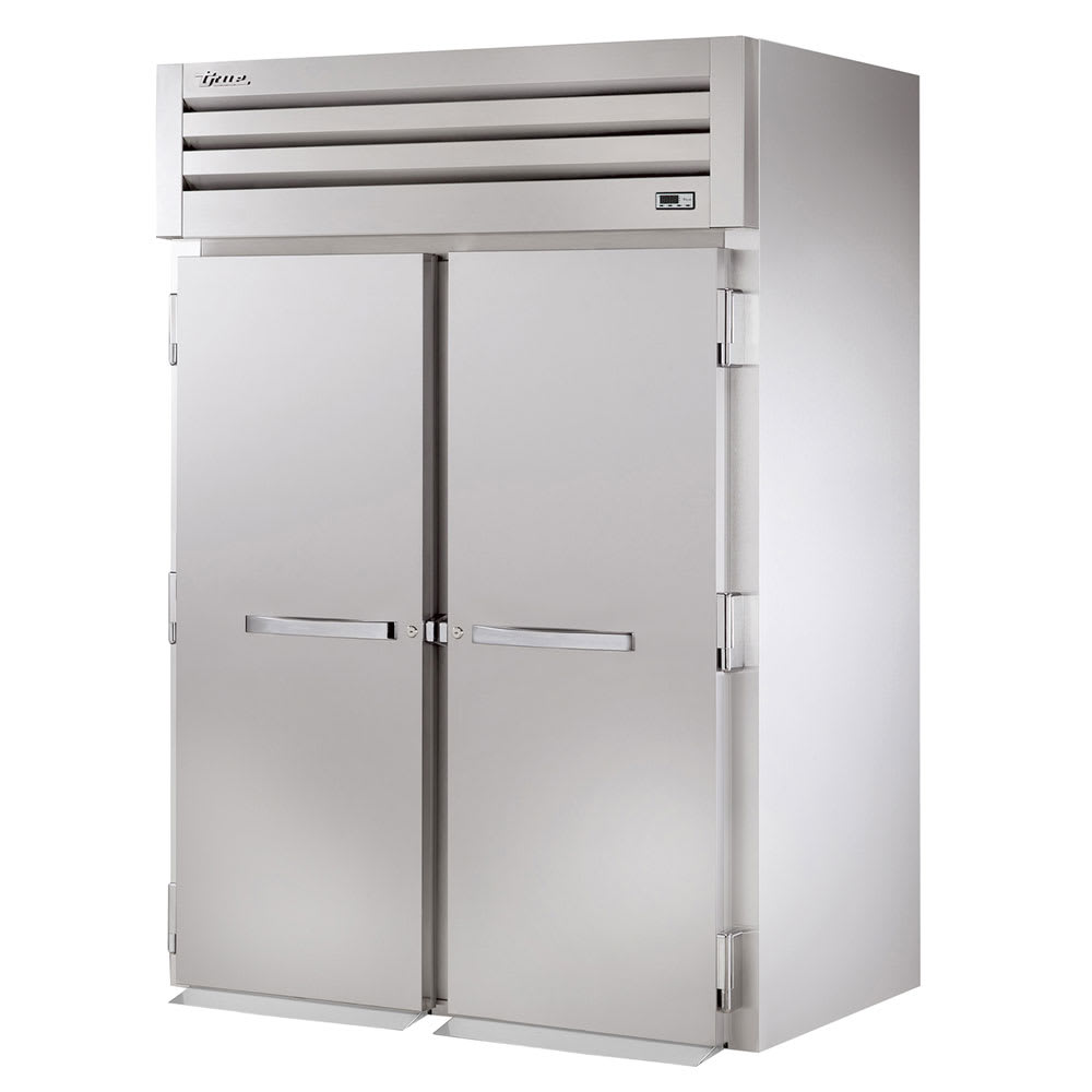"True STA2FRI-2S 68"" Two Section Roll-In Freezer, (2) Solid Door, 115v"