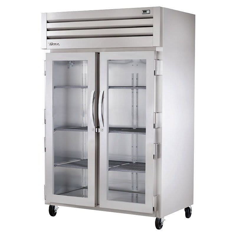 "True STA2R-2G-HC 52.63"" Two Section Reach-In Refrigerator, (2) Glass Door, 115v"