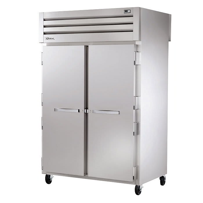 "True STA2RPT-2S-2S-HC 52.6"" Two Section Reach-In Refrigerator, (2) Solid Doors, Pass-Thru, 115v"