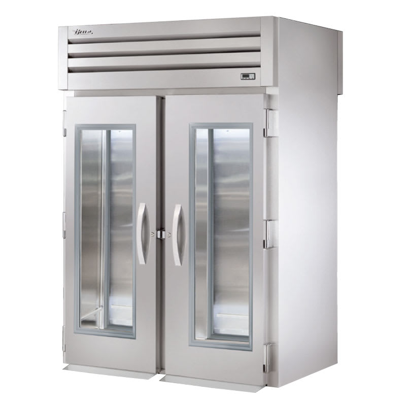 "True STA2RRT-2G-2S 68"" Two Section Roll-Thru Refrigerator, (2) Glass Door, 115v"