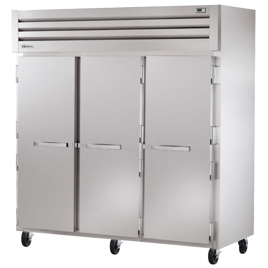 "True STA3F-3S 77.75"" Three Section Reach-In Freezer, (3) Solid Doors, 208-230v/1ph"