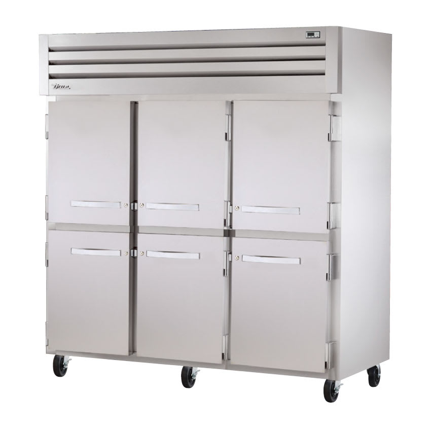 "True STA3F-6HS 77.75"" Three Section Reach-In Freezer, (6) Solid Door, 208 230v/1ph"