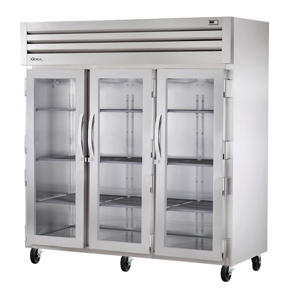 "True STA3R-3G 77.75"" Three Section Reach-In Refrigerator, (3) Glass Door, 115v"
