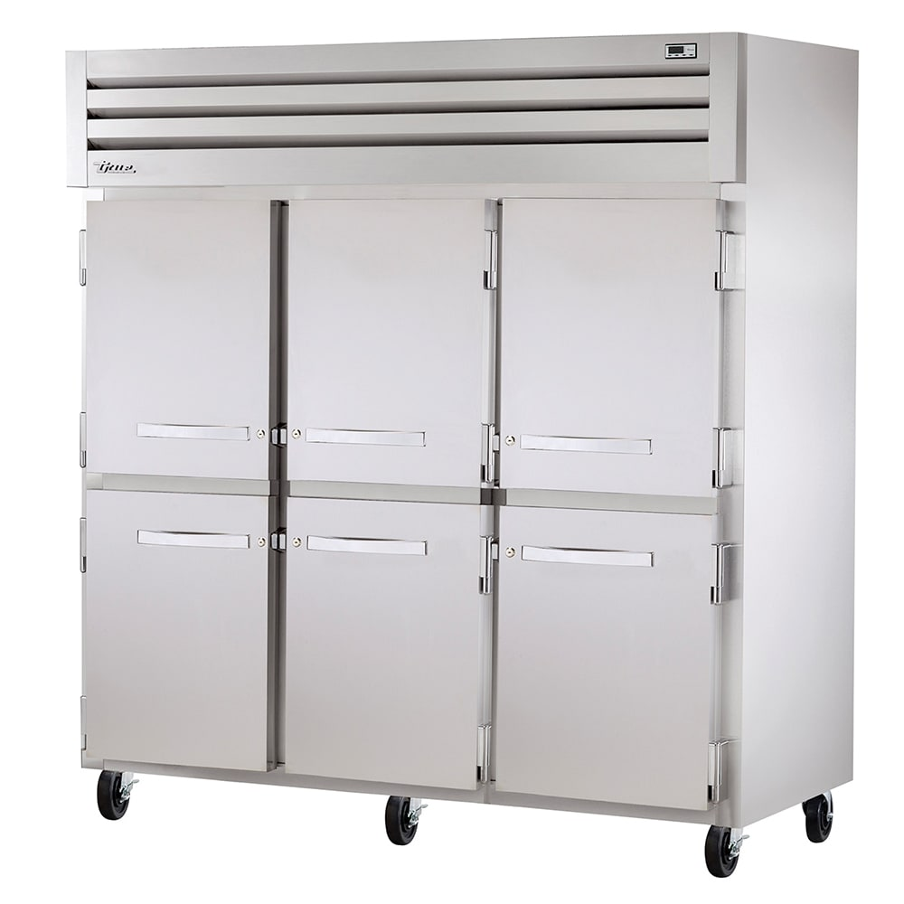 "True STA3R-6HS 77.75"" Three Section Reach-In Refrigerator, (6) Solid Door, 115v"
