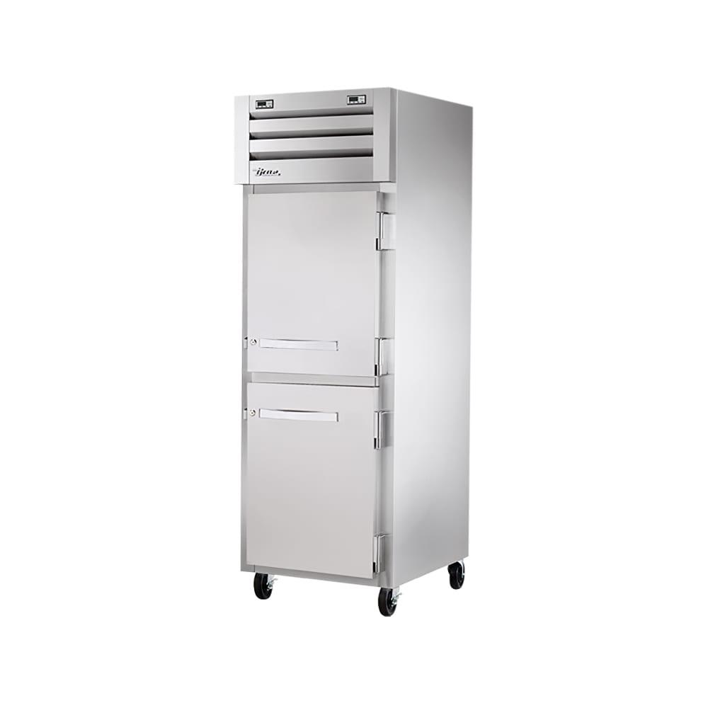"""True STG1DT-2HS 28"""" One Section Commercial Refrigerator Freezer - Solid Doors, Top Compressor, 115v"""